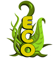 Green eco design Eco concept vector image