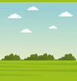 green grass and sky landscape vector image