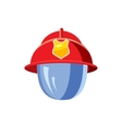 Helmet for a firefighter with mask icon vector image
