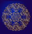 mandala amulet esoteric gold symbol on a blue vector image