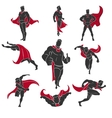 Superhero comics set vector image