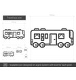 travel bus line icon vector image
