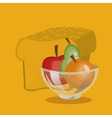 assorted healthy food icons image vector image
