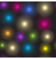 Seamless pattern of luminous colorful spots vector image vector image