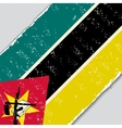 Mozambique grunge flag vector image