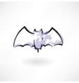 Bat grunge icon vector image