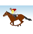 jockey vector image