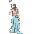greek god poseidon cartoon vector image vector image
