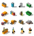 Garbage Recycling Isometric Icons Collection vector image