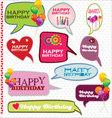 Speech bubbles retro design - Happy Birthday vector image vector image