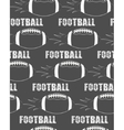 American football ball rocket seamless pattern in vector image