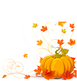 Autumn place card vector image