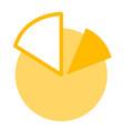 business pie chart cartoon vector image