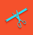 ceremony ribbon cut sign whitish icon on vector image
