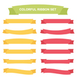 Colorful ribbons and banners set vector image