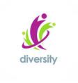 diversity logo vector image