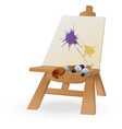 Easel vector image