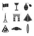 France icons set vector image
