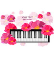 piano musical card with flowers vector image