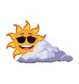 smiling sun cartoon mascot character image vector image