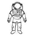space suit helmet protective for astronaut vector image