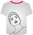 T Shirt Template- Glamor model vector image