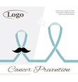 The prevention of cancer vector image
