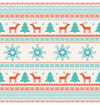 Christmas traditional knitted ornament vector image