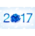Happy New Year  Blue 2017 vector image