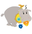 Young hippo vector image