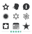 star of david icons symbol of israel vector image