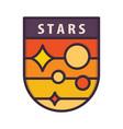 shield stars logo vector image