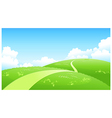 Curved path green landscape vector image