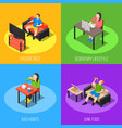 sedentary lifestyle design concept vector image