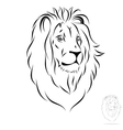 stylized lion head vector image vector image