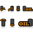 Oil icons vector image vector image