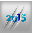 2015 numbers blue vector image vector image