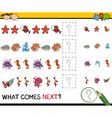 pattern task for preschoolers vector image