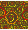 abstract colorful circles pattern vector image vector image