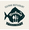 seafood restaurant with fish vector image