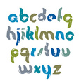 bright acrylic hand-painted font handwritten vector image