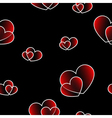 Red big and small hearts vector image