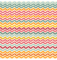 seamless pattern with color wavy lines vector image