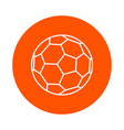soccer ball round line icon simple color vector image