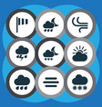 weather icons set collection of haze nightly vector image