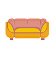 yellow-pink sofa isolated on white flat vector image