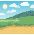 Outdoor location background vector image vector image