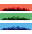 cityscape overprint vector image vector image