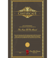 certificate grunge vector image