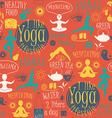 Yoga lifestyle seamless pattern vector image